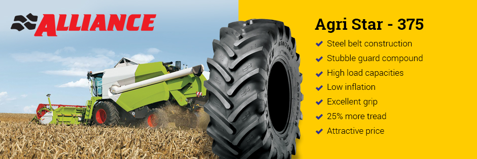 Tires for harvesters